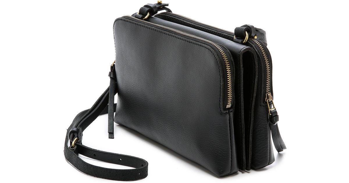914e9f2cd Madewell Twin Pouch Cross Body Bag - True Black in Black - Lyst
