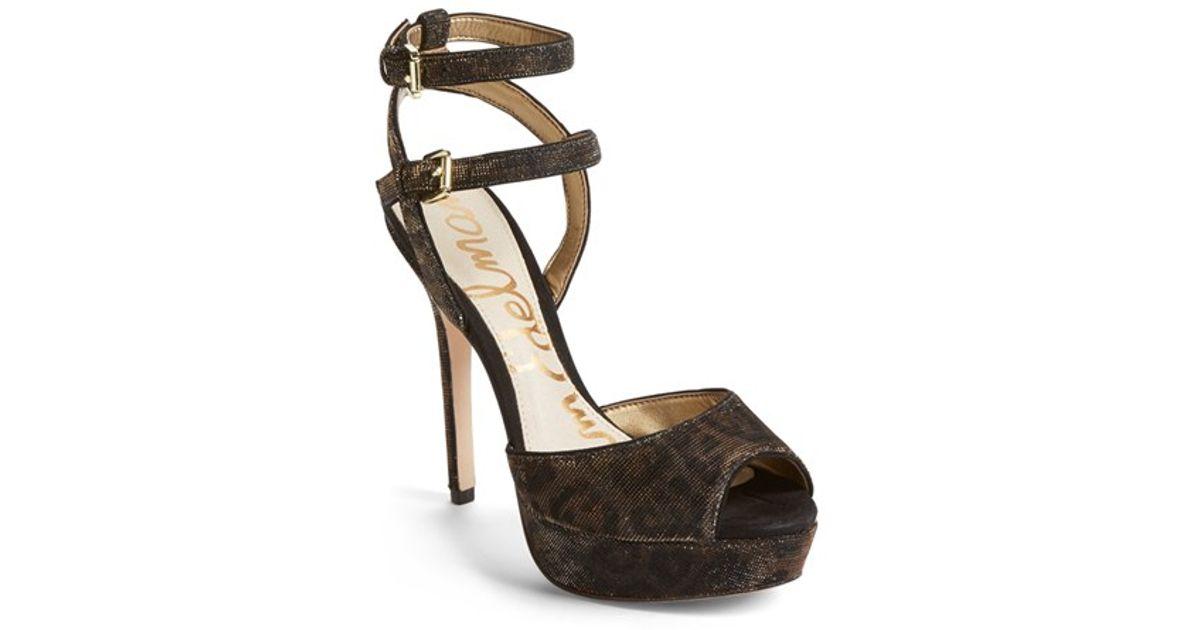 43e00780bf18 Lyst - Sam Edelman Nadine printed Platform Sandals in Metallic