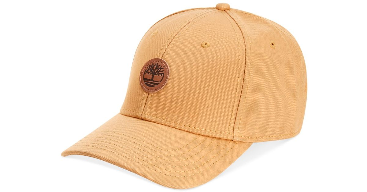Lyst - Timberland Cotton Baseball Cap in Natural for Men 37352163e5d