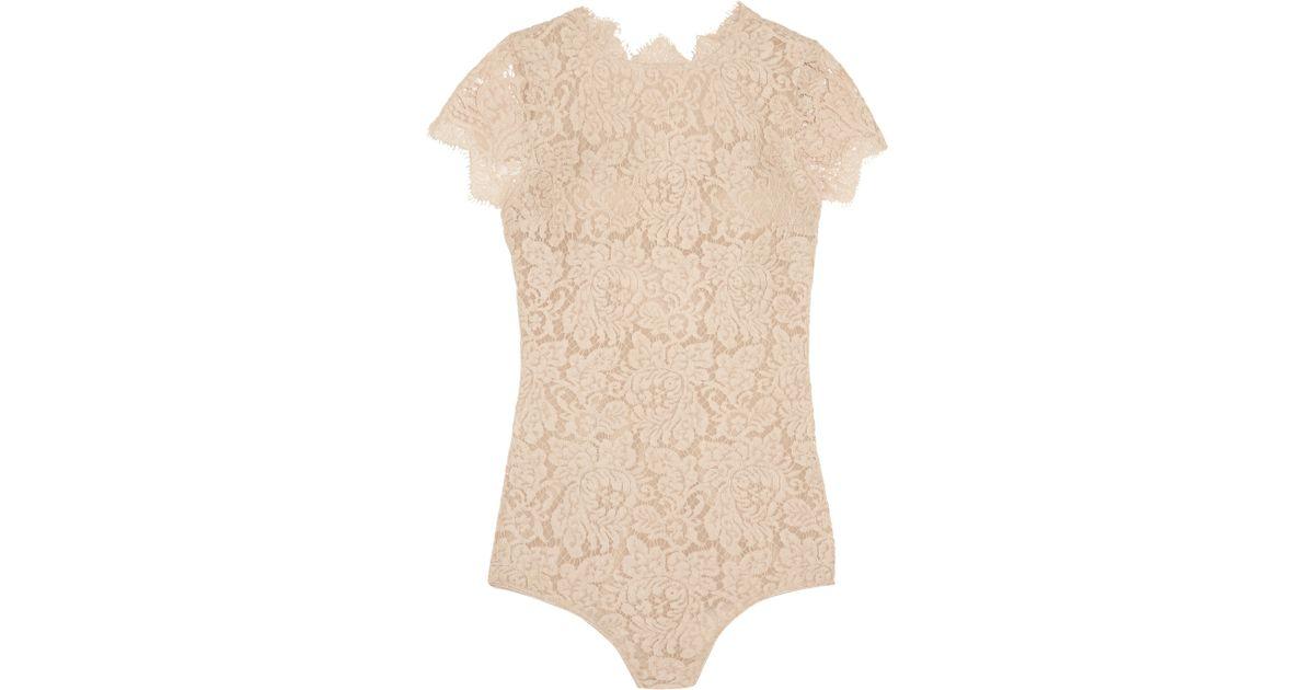 Lyst - I.D Sarrieri La Belle Chantilly Lace Bodysuit b540216ba