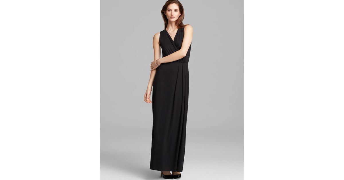 Lyst Three Dots Faux Wrap Maxi Dress Bloomingdales Exclusive In Black