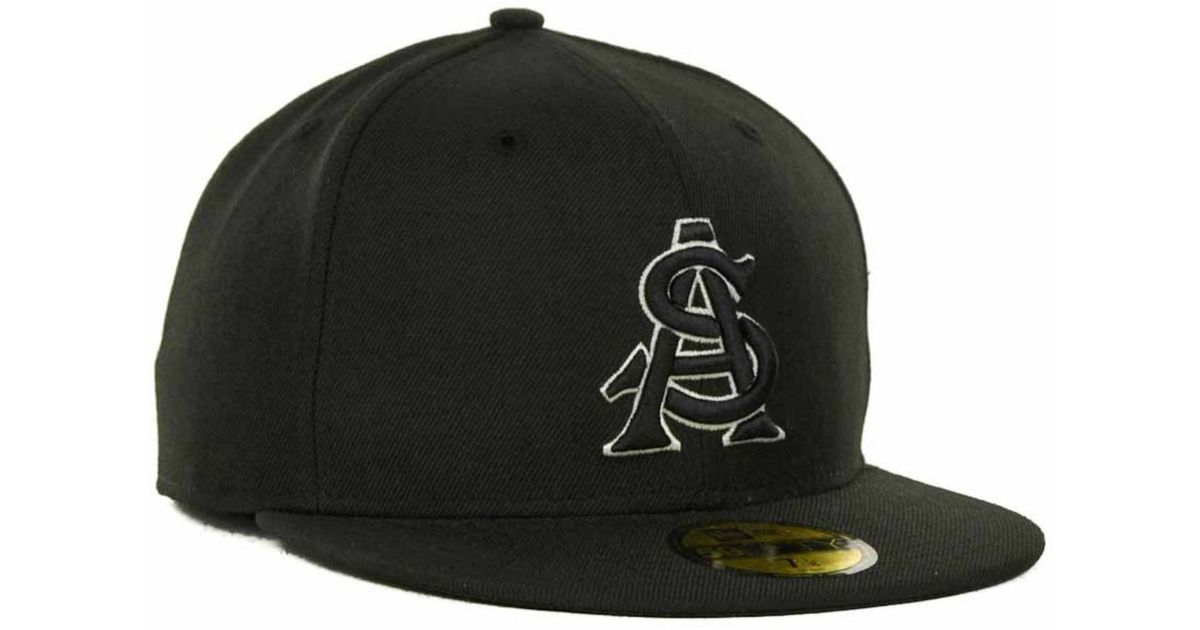 new product 90a91 c8c61 ... new arrivals lyst ktz arizona state sun devils ncaa black on black with  white 59fifty cap