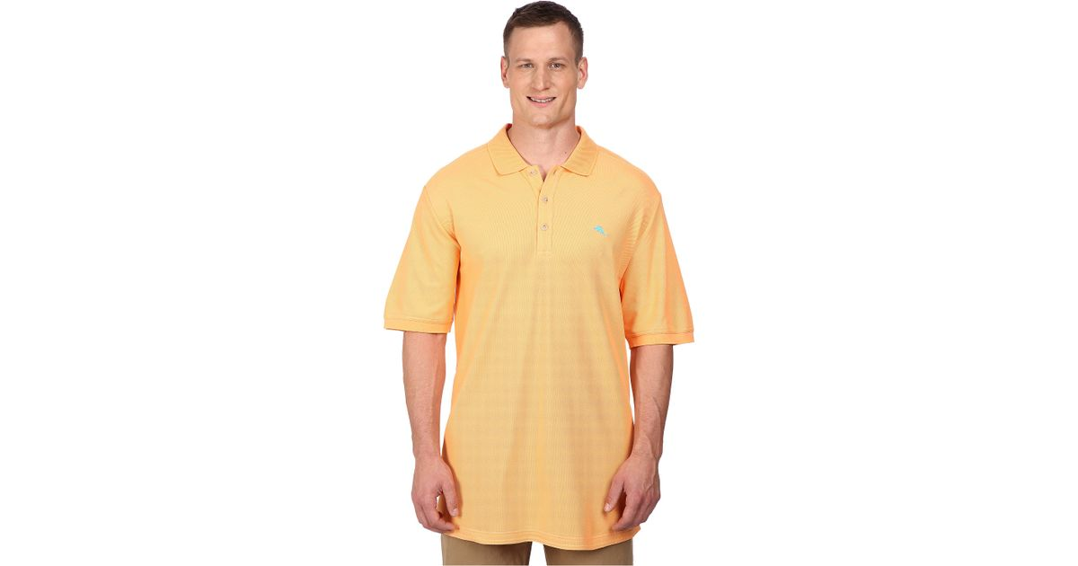 Tommy Bahama Big Tall Emfielder Polo Shirt In Yellow For
