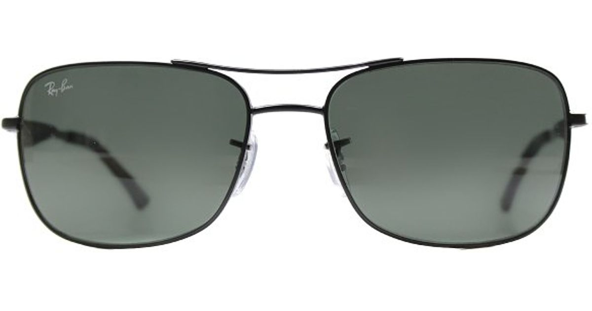 45a069fb82f Lyst - Ray-Ban Ray Ban Rb3515 006 71 Matte Black Sunglasses Green Lens-58mm  in Metallic