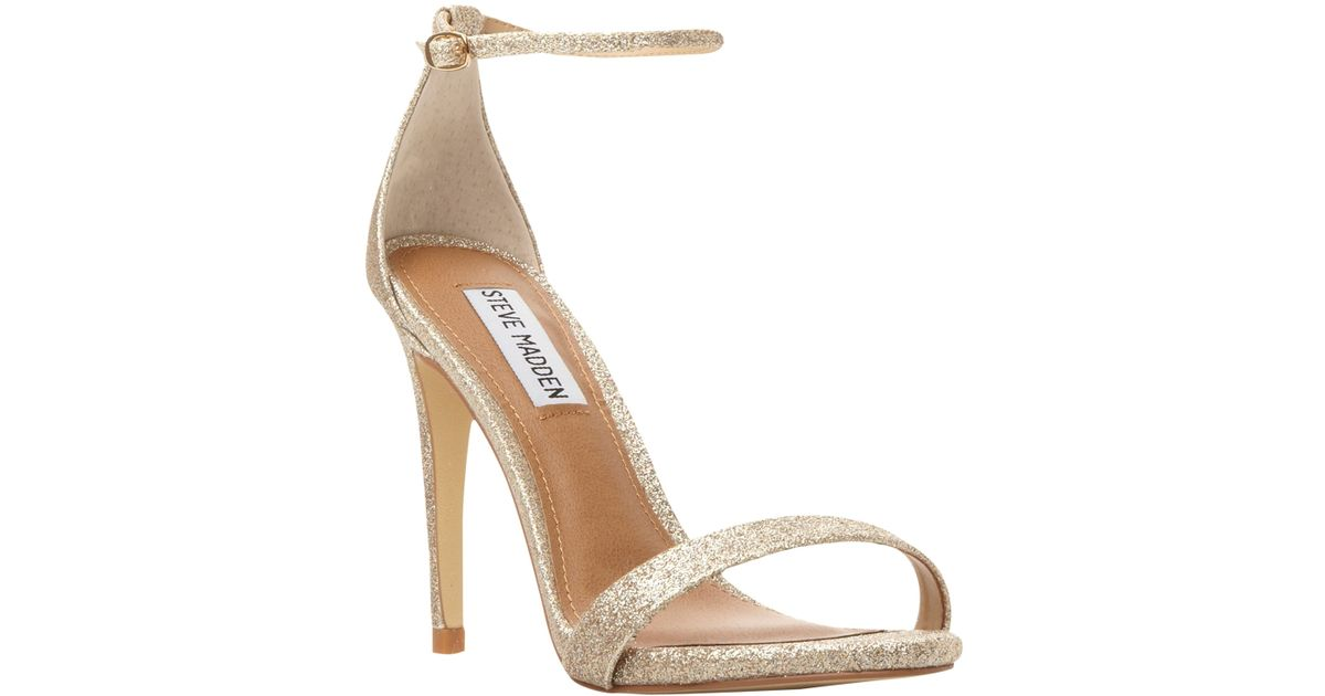 54efeba4a02 Steve Madden Stecy-r Sm Barely There High Heeled Sandals in Metallic - Lyst