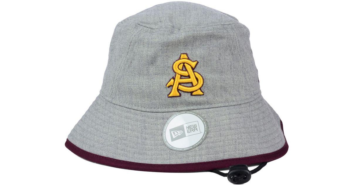 Lyst - KTZ Arizona State Sun Devils Tip Bucket Hat in Gray 83b95e6041ce