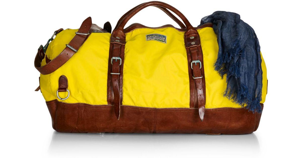 df47a30861a Lyst - Polo Ralph Lauren Yosemite Nylon Duffle in Yellow for Men