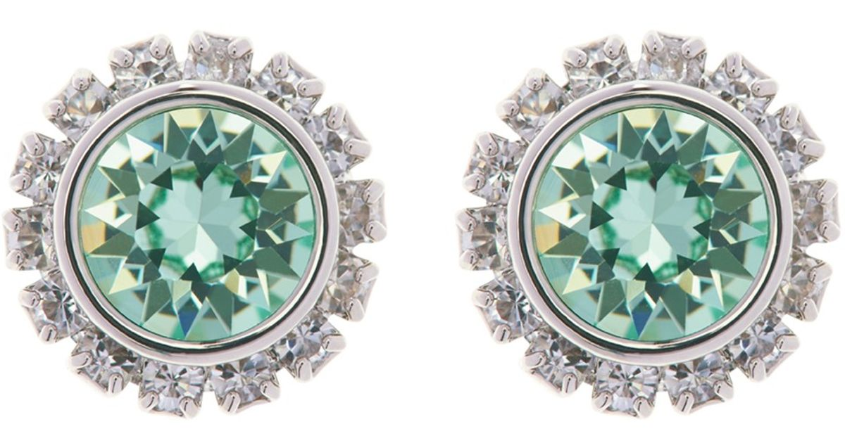 a72bd0872 Ted Baker Sully Swarovski Crystal Stud Earrings in Metallic - Lyst