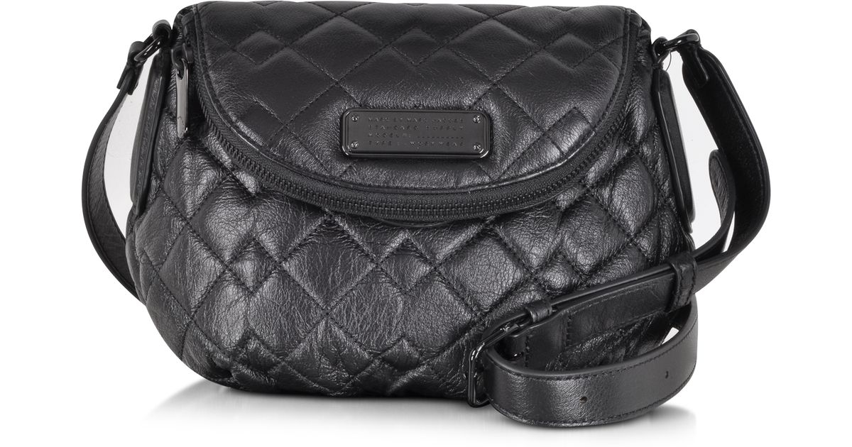 a59623878d873 Lyst - Marc By Marc Jacobs New Q Quilted Mini Natasha Black Leather Crossbody  Bag in Black