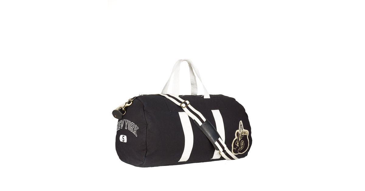8a143c2497 Polo Ralph Lauren Canvas Boxing Duffel Bag in Black for Men - Lyst