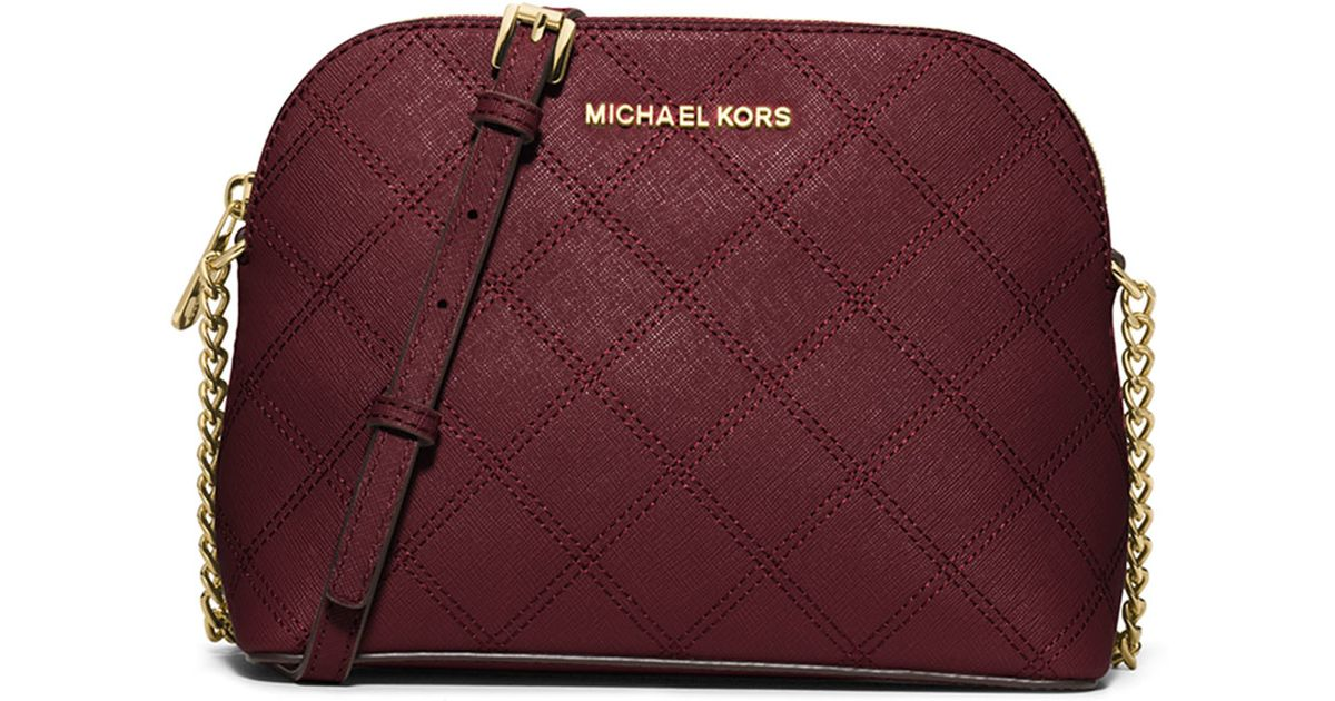 033bb7a7d437 MICHAEL Michael Kors Cindy Large Dome Quilted Cross-Body Bag in Purple -  Lyst