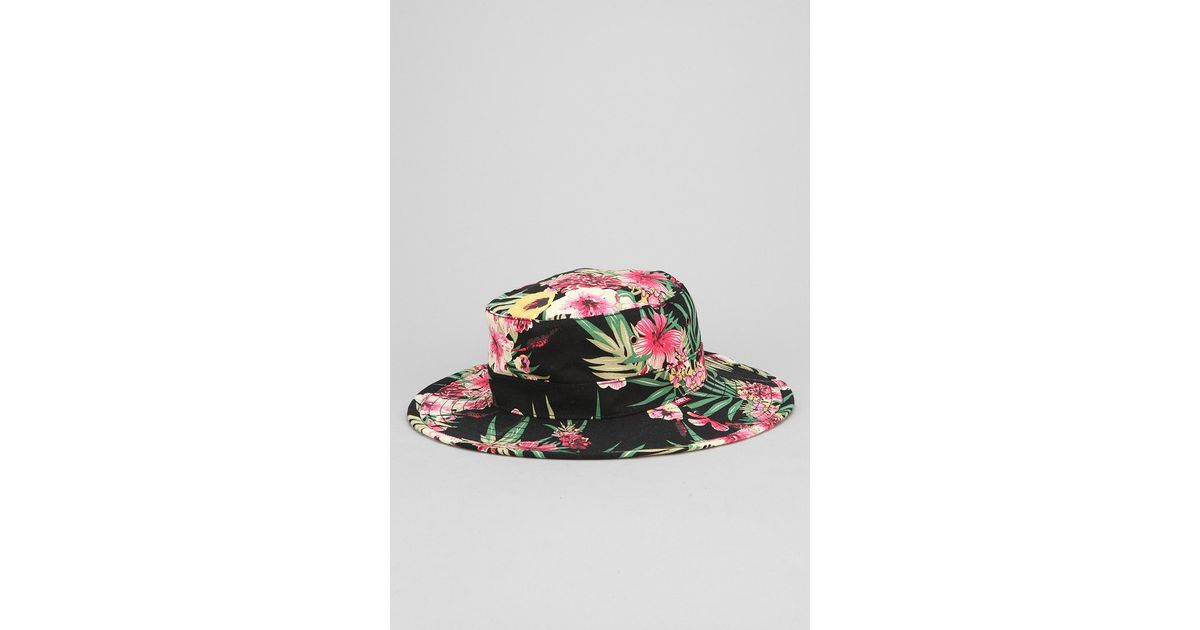 3a0ec544424 Lyst - Obey Boonts Floral Widebrim Bucket Hat for Men