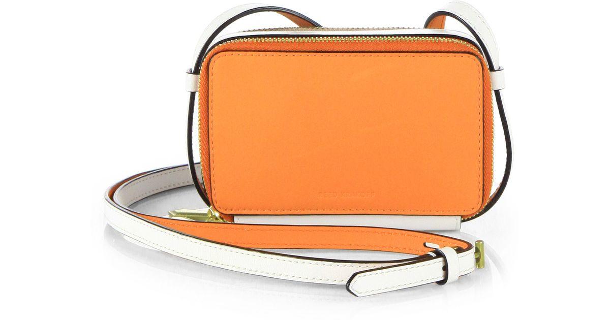 2f58c77644 Lyst - Reed Krakoff Doublezip Leather Crossbody Bag in Orange