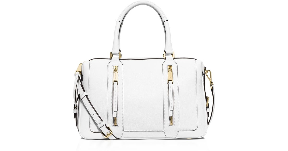 9a69d28ffbbc ... coupon code julia large satchel michael michael kors large julia  satchel in white lyst 87a9a e7c1d