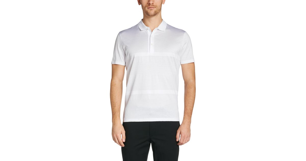 ace6e1d79 BOSS 'piket' | Regular Fit, Mercedes Benz Cotton Polo in White for Men -  Lyst