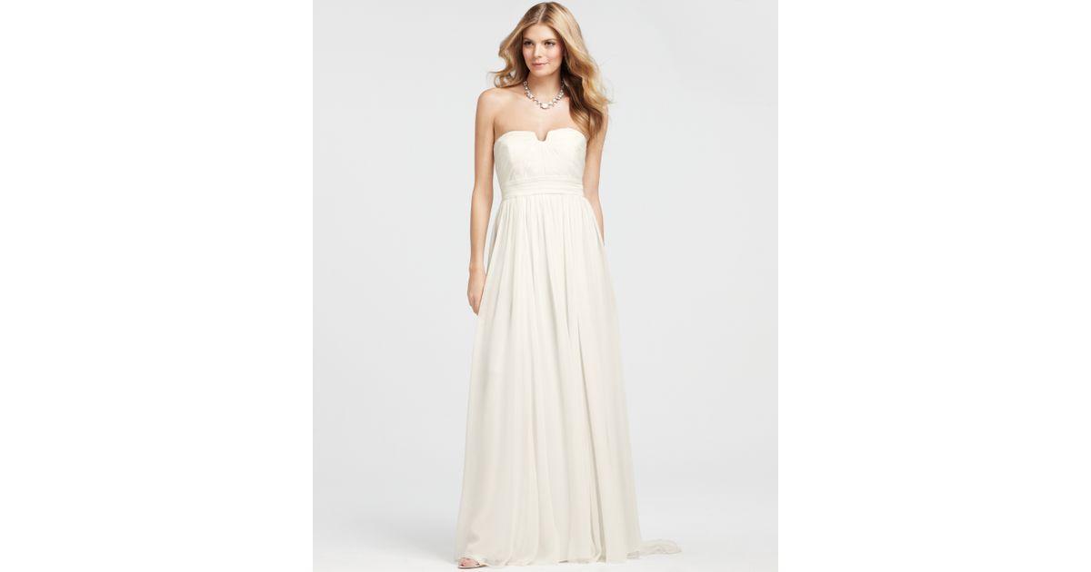 Ann Taylor Wedding Gowns: Ann Taylor Vintage Silk Strapless Wedding Dress In White