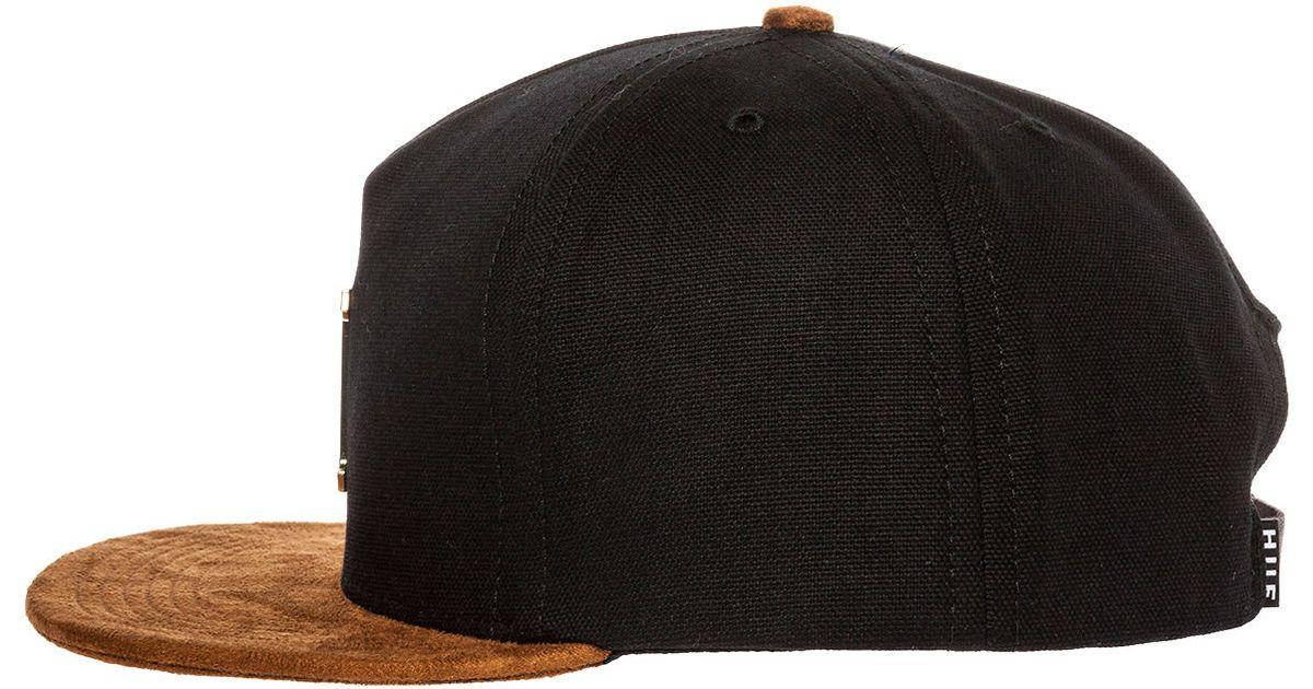 266979f6c9fef ... logo fd768 02f6f store lyst huf the gold metal h strapback hat in black  for men 541df 985f7 ...