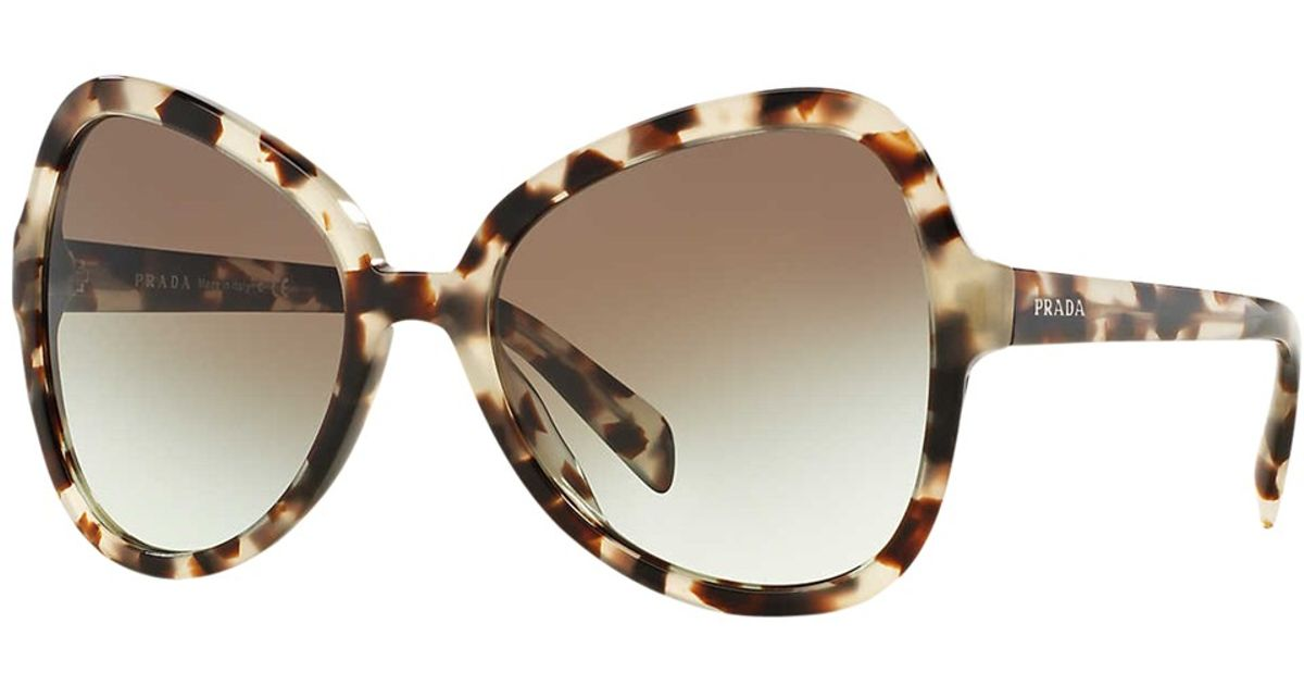 763b00cb7e Prada Pr05ss Cat s Eye Sunglasses in Brown - Lyst