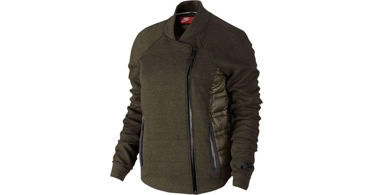 c299c5a03955 Lyst - Nike Aeroloft Tech Fleece Moto Jacket in Green