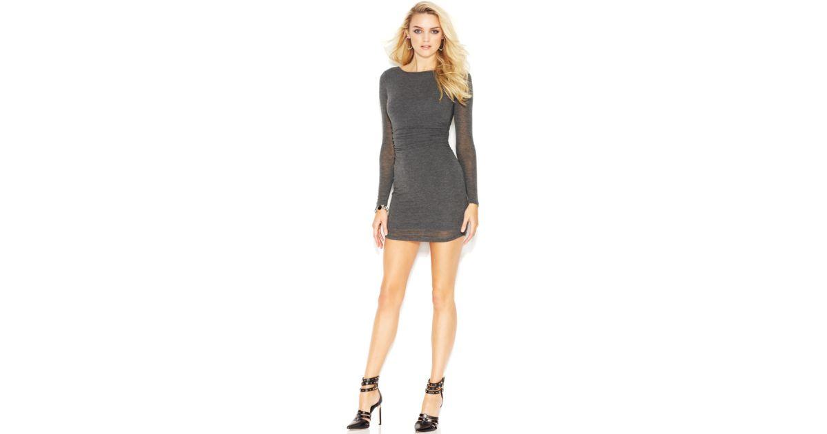 Turmec Guess Long Sleeve Black Dress