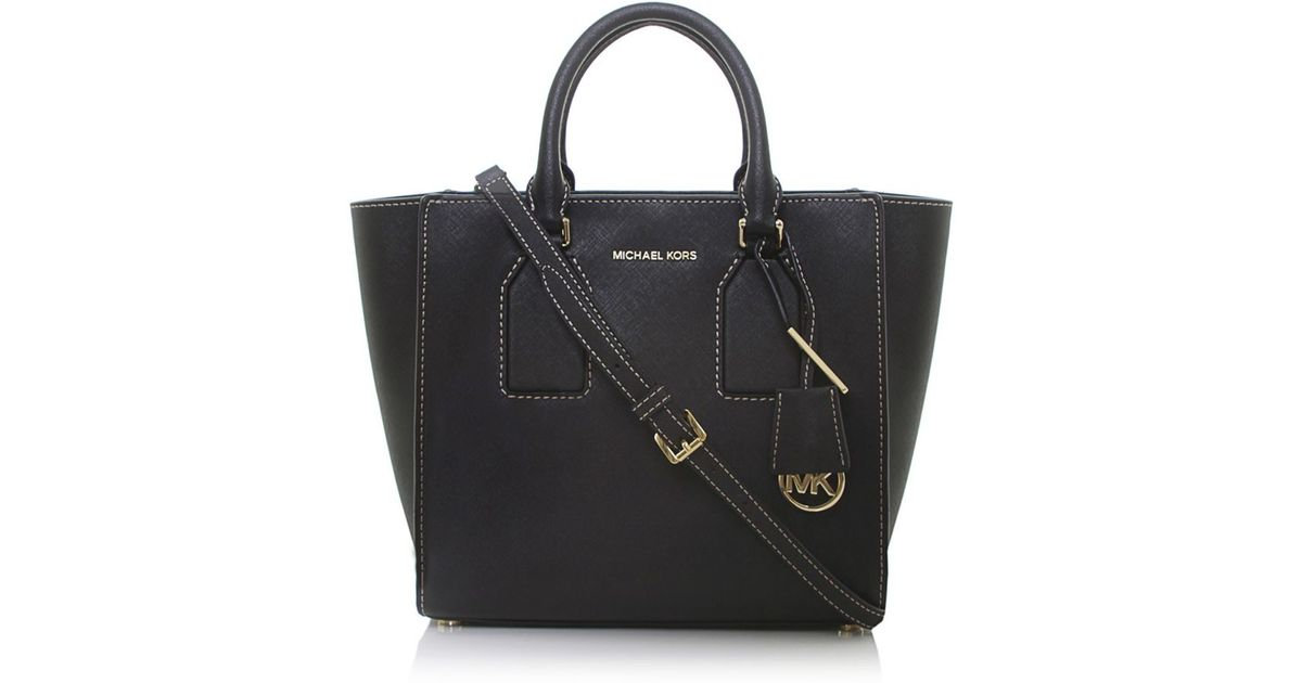 fa918cf7c739 ... cheap lyst michael michael kors selby medium satchel bag in black 04010  24641