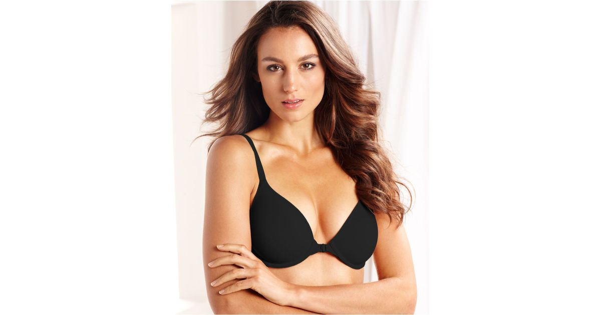 7c3261ba42 Lyst - Wacoal How Perfect Front Close Contour Bra 853189 in Black