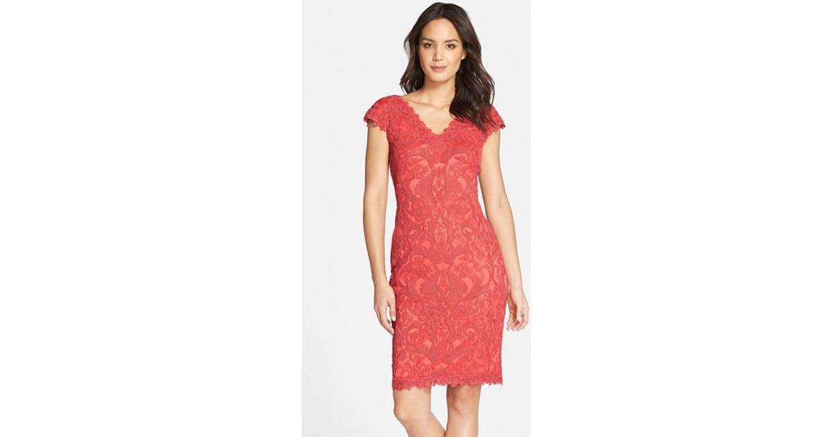 Tadashi shoji red dress nordstrom