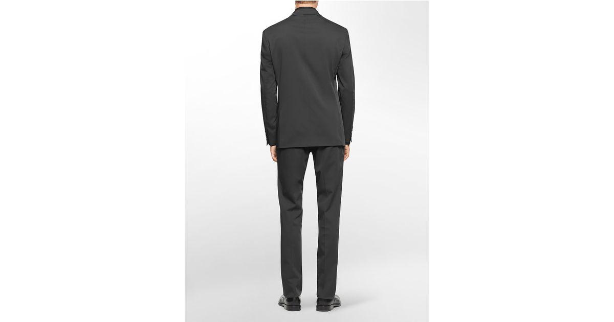 Calvin klein x fit ultra slim fit black suit in black for for Calvin klein x fit dress shirt