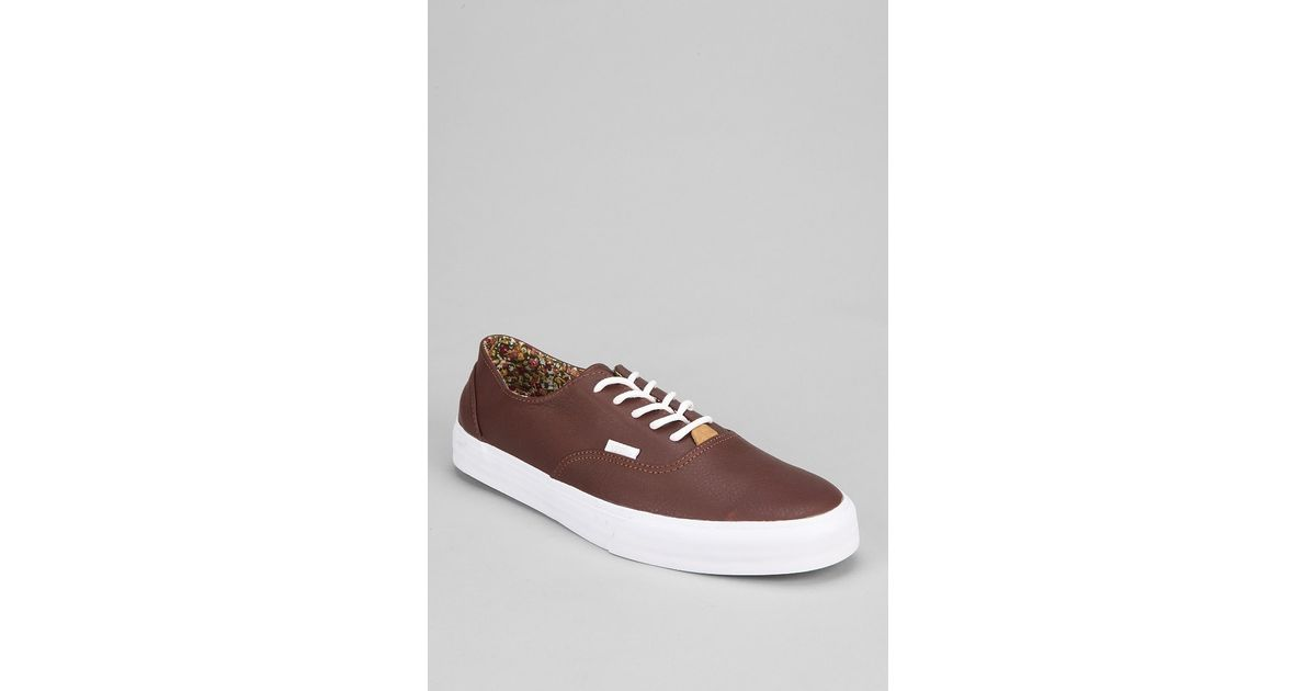 5b9229a573 Lyst - Vans Era Decon California Nappa Mens Leather Sneaker in Brown for Men