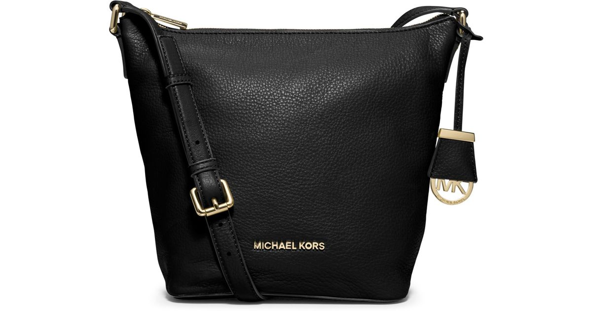6a598ddcd452 ... ireland lyst michael kors bedford medium leather messenger in black  4e60c c78c2