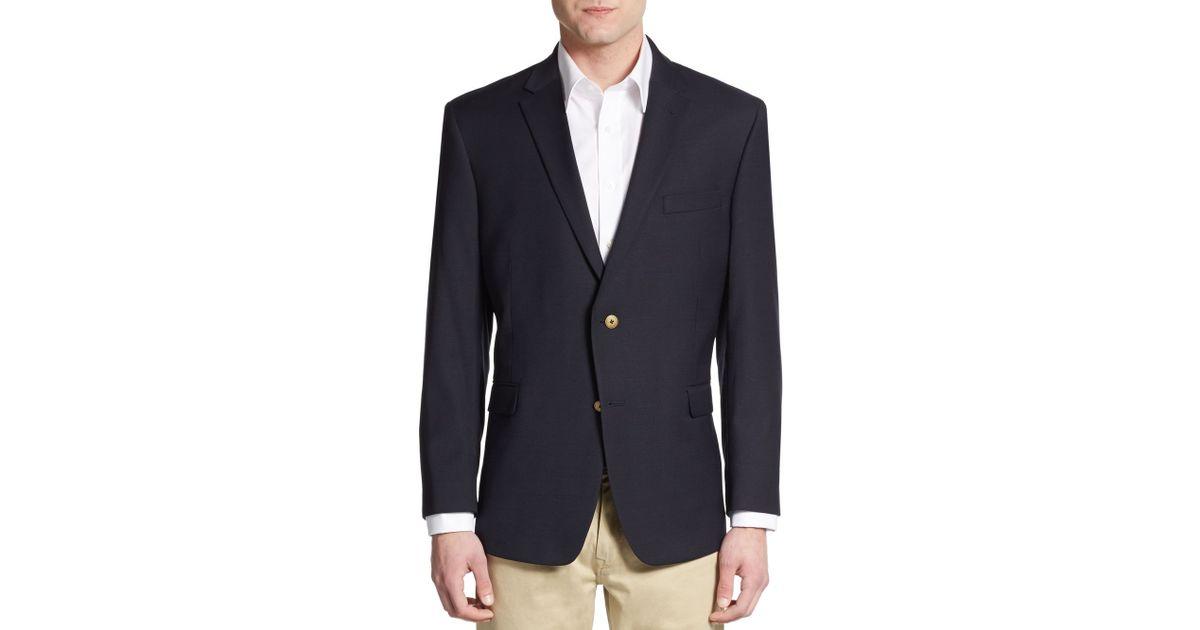 tommy hilfiger regular fit wool blend stretch sportcoat in. Black Bedroom Furniture Sets. Home Design Ideas