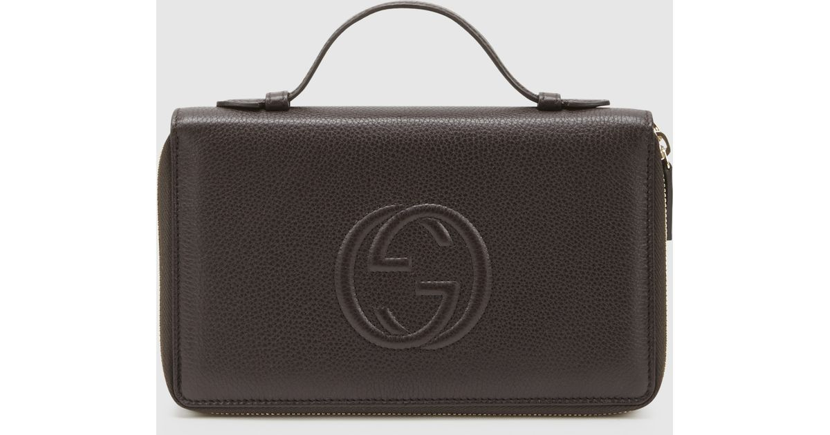 Fresh Lyst - Gucci Soho Leather Travel Document Case in Brown for Men KR07