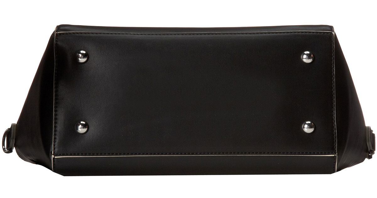 3006887914 Lyst - Vera Bradley Solid Pu Handbag in Black