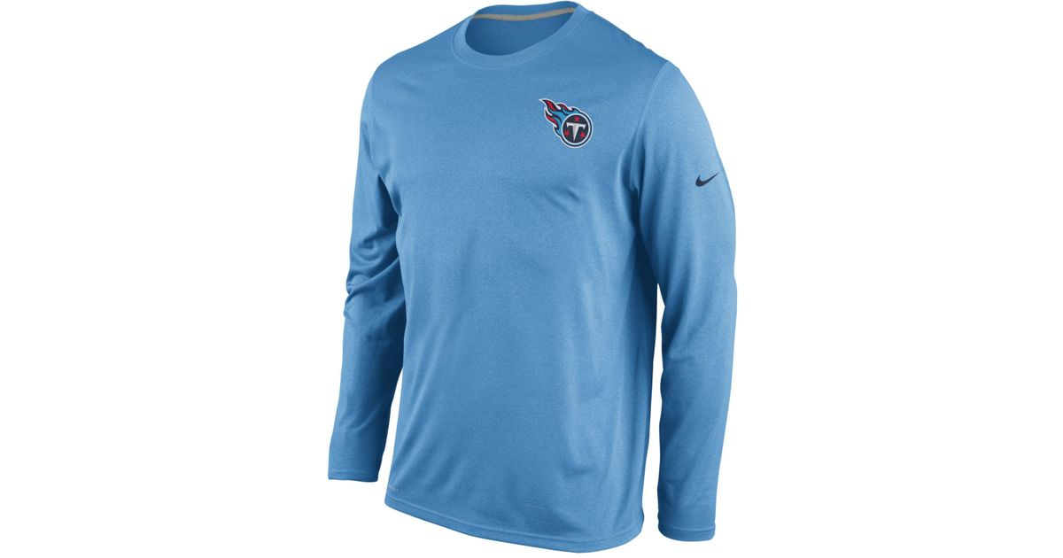 ae57c372 Nike Men'S Long-Sleeve Tennessee Titans Dri-Fit T-Shirt in Blue for Men -  Lyst
