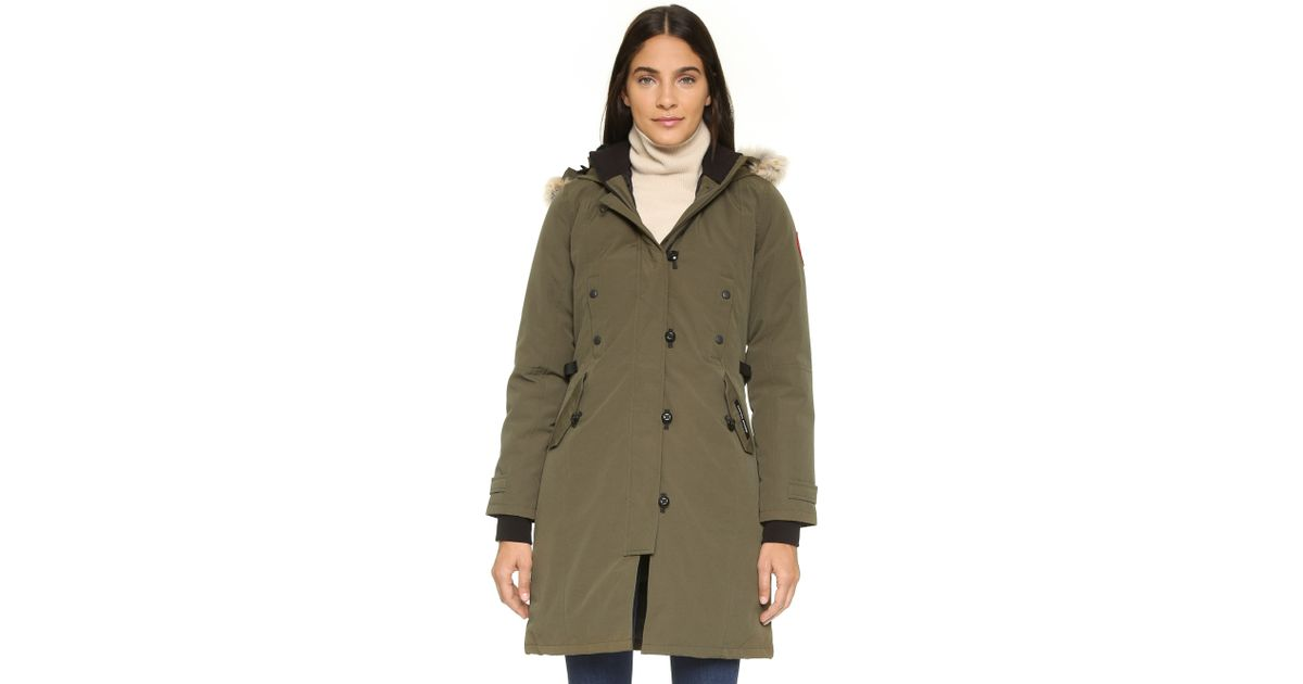 9b7422ce821 ... where can i buy lyst canada goose kensington parka in green d5dcf a4a2b