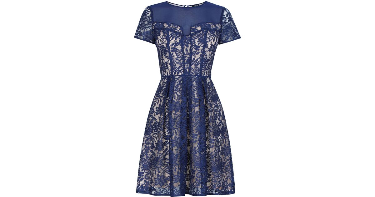 Oasis dark blue lace dress