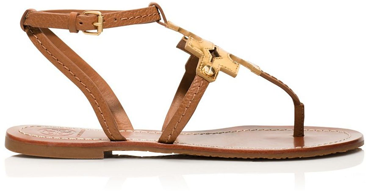 31dce36594e9 Lyst - Tory Burch Chandler Flat Sandal in Brown