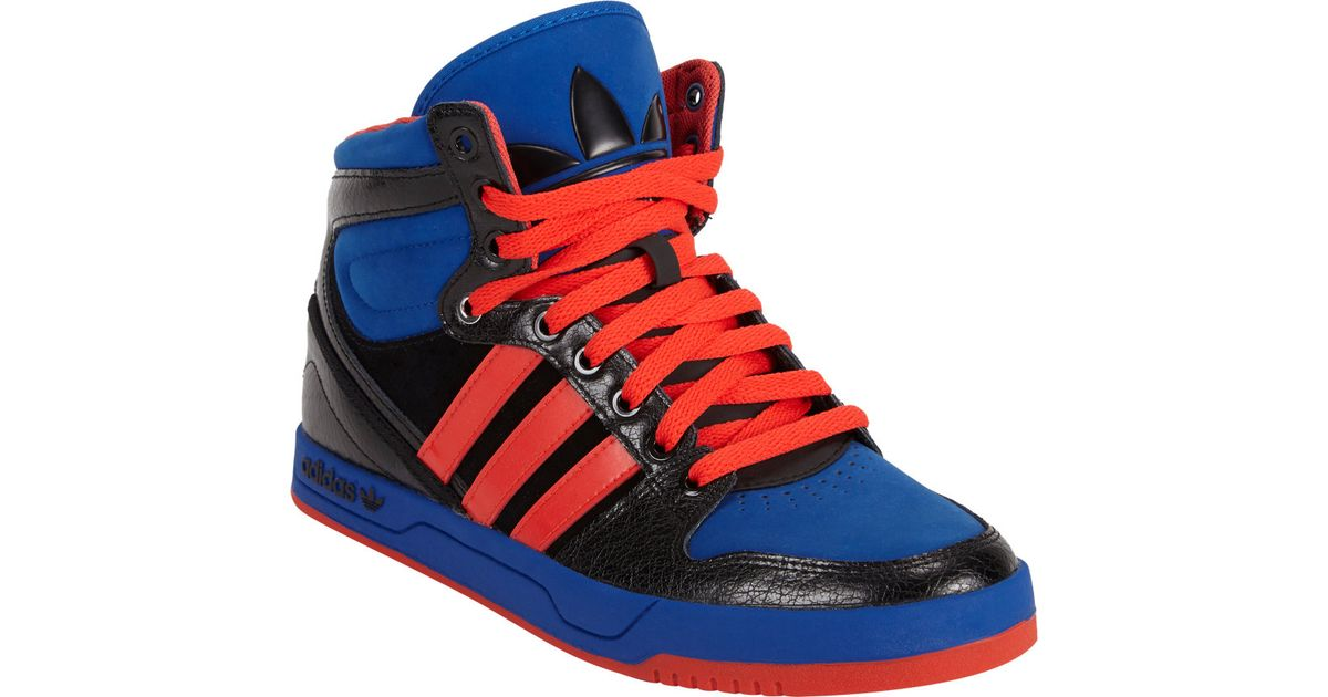 new product c85c3 ba626 Lyst - adidas Court Attitude Hightop Sneakers in Blue