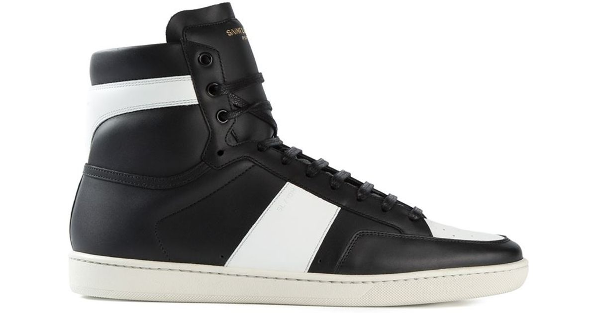 da55815b38ce9 Lyst - Saint Laurent   39 court Classic  39  Sneakers in Black Saint  laurent Court Classic Sneakers in Brown for Men