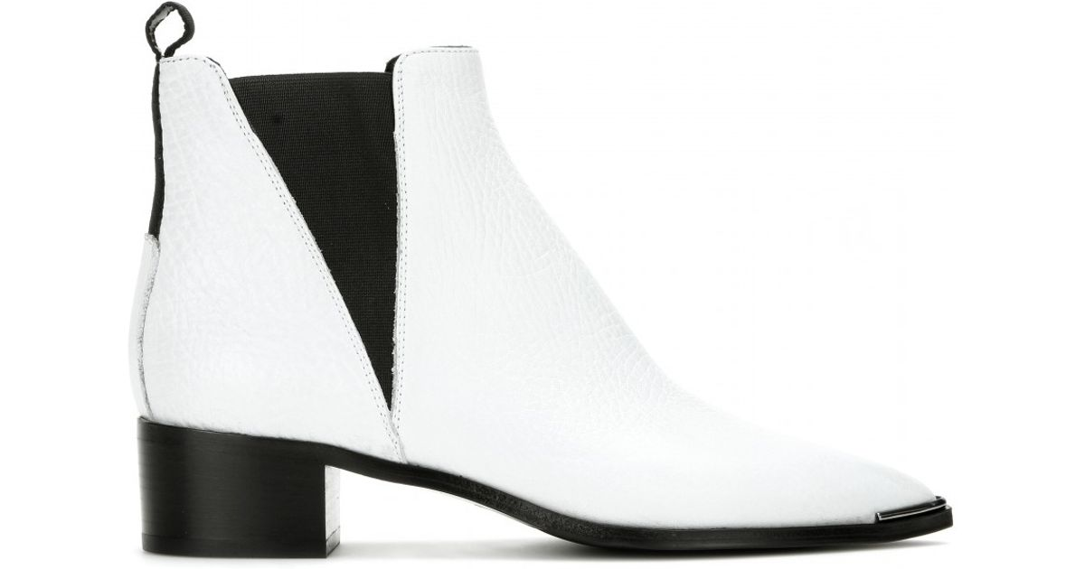 beee968877ef2 Lyst - Acne Studios Jensen Leather Ankle Boots in White