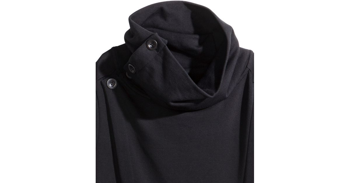 H&m Long Sweatshirt Cardigan in Black for Men | Lyst