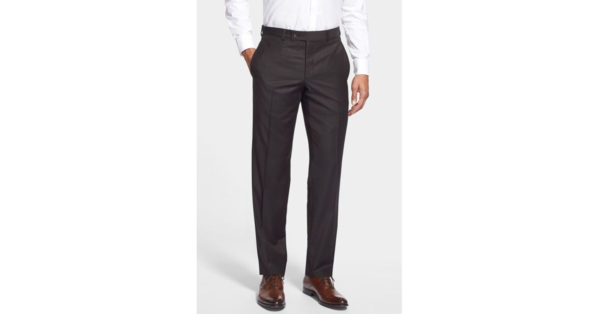 7cc4775920352b Lyst - Ted Baker  jefferson  Flat Front Wool Trousers in Gray for Men