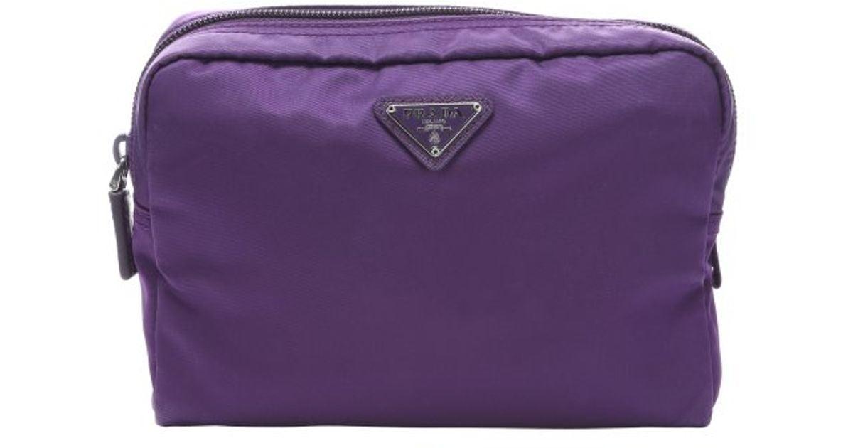 fake prada wallets - prada nylon double-zip cosmetic case, imitation prada handbags