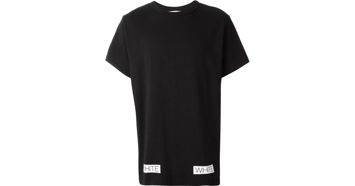 Off-white c/o virgil abloh Logo Print T-shirt in Black for Men | Lyst