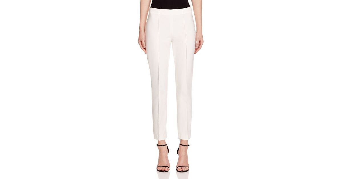 ce1a30683c Theory Alettah Pants in White - Lyst