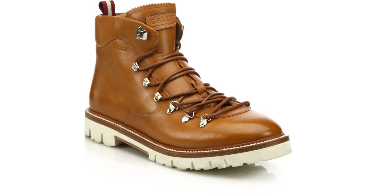 6521d4048bd Lyst - Bally J. Cole For Leather Hiking Boots in Brown for Men