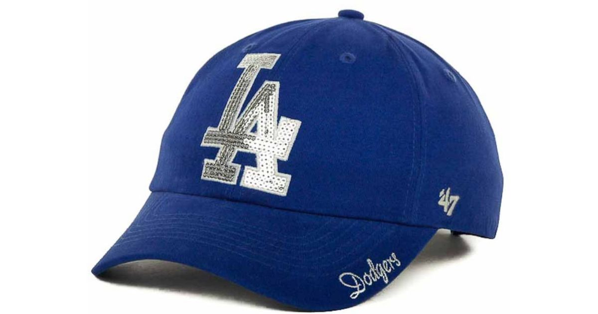 new style 65f4a d3748 Lyst - 47 Brand Women s Los Angeles Dodgers Sparkle Cap in Blue