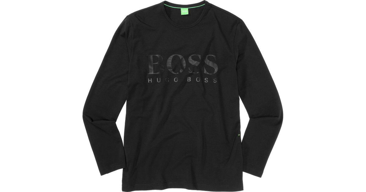 52d69a78 BOSS Green Long-Sleeve Shirt 'Togn Us' in Black for Men - Lyst