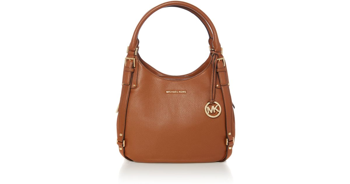 cfc1f599be02 Michael Kors Bedford Hobo Bag in Brown - Lyst Michael kors bedford shoulder  ...