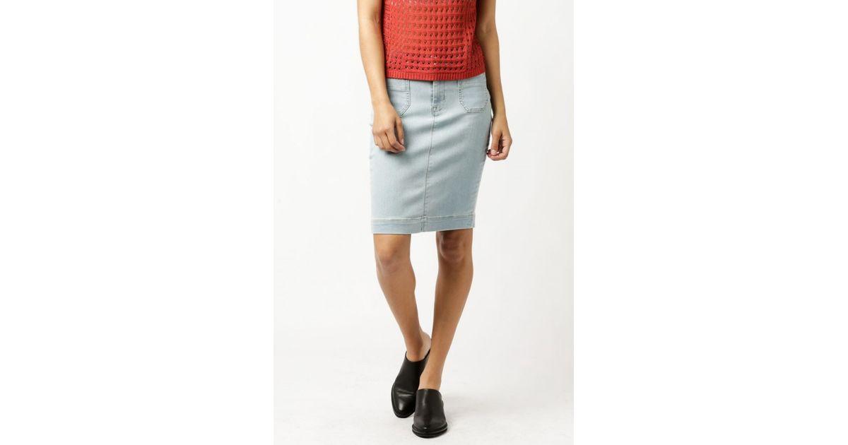 hudson fiona sailor pencil skirt in blue slater lyst